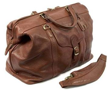 Mens Leather Weekend Bag Shirts With Shoe Compartment