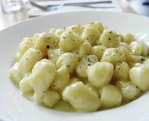 Gorgonzola gnocchi from Il Baretto.