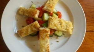 Neapolitan Peasant Tomato and Cucumber Salad (finished)
