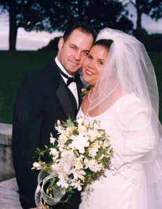 Nicky and her brother, Raymond, on her wedding day.
