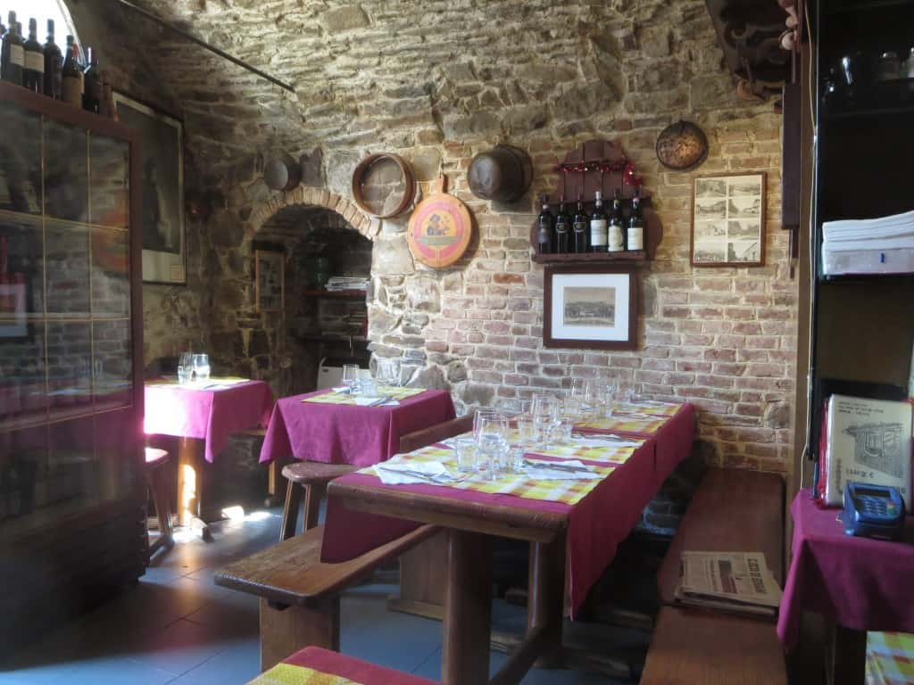 Inside of the Tre Torri Restaurant