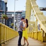 Engagement Portrait on Bridge