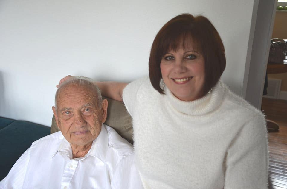 Valerie Vacula with her dad, Albert DeFazio
